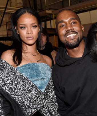 Rihanna with kanye West