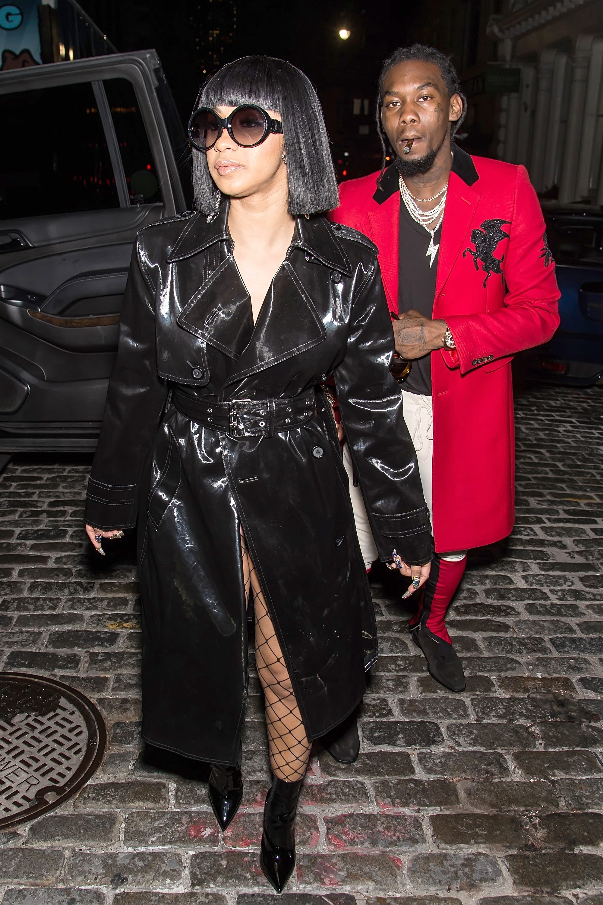 Cardi B Street Style Fashion Trends Black Velvet