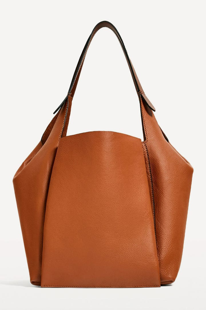 Zara Leather Bucket Bag 139 Available At