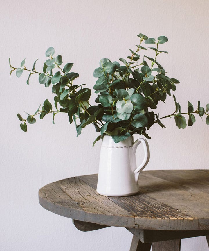 Eucalyptus Is The Type Of Greenery That Looks Good With Flowers But Equally Chic On Its Own These Artificial Stems Look Just Like Real Ones