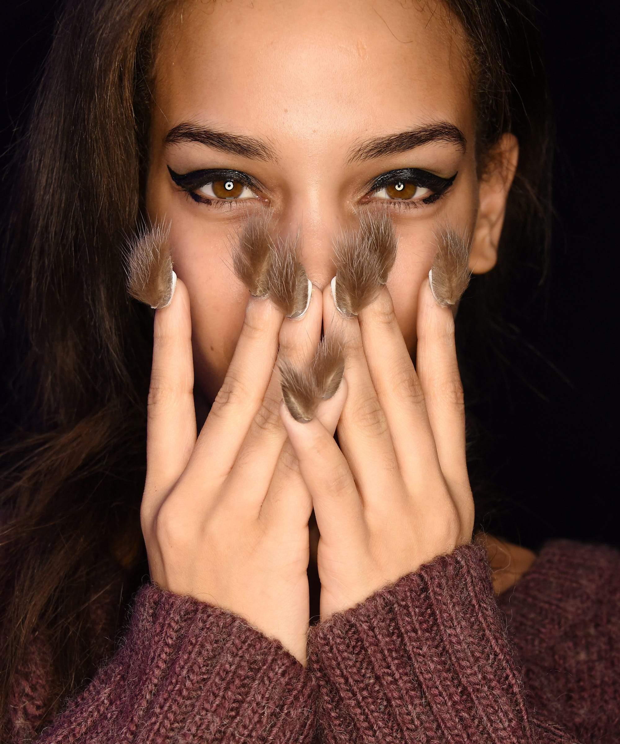 Furry Nails At New York Fashion Week
