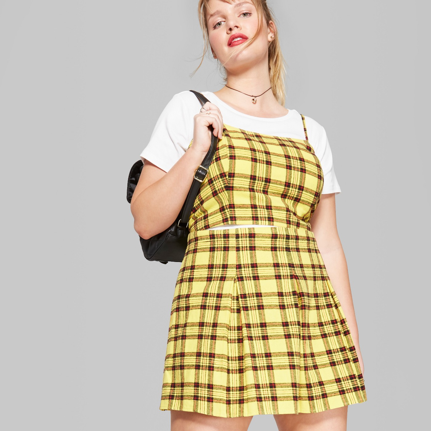 Hippie Halloween Costume Vsco.Plus Size Plaid Strappy Cropped Woven Top