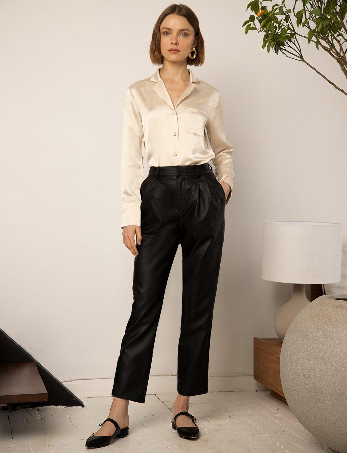 629e1604e32 Leather Pants Trend Spring 2019