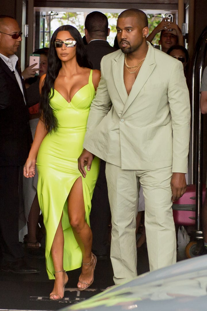 Kim Kardashian Wears Neon To A 2 Chainz Miami Wedding
