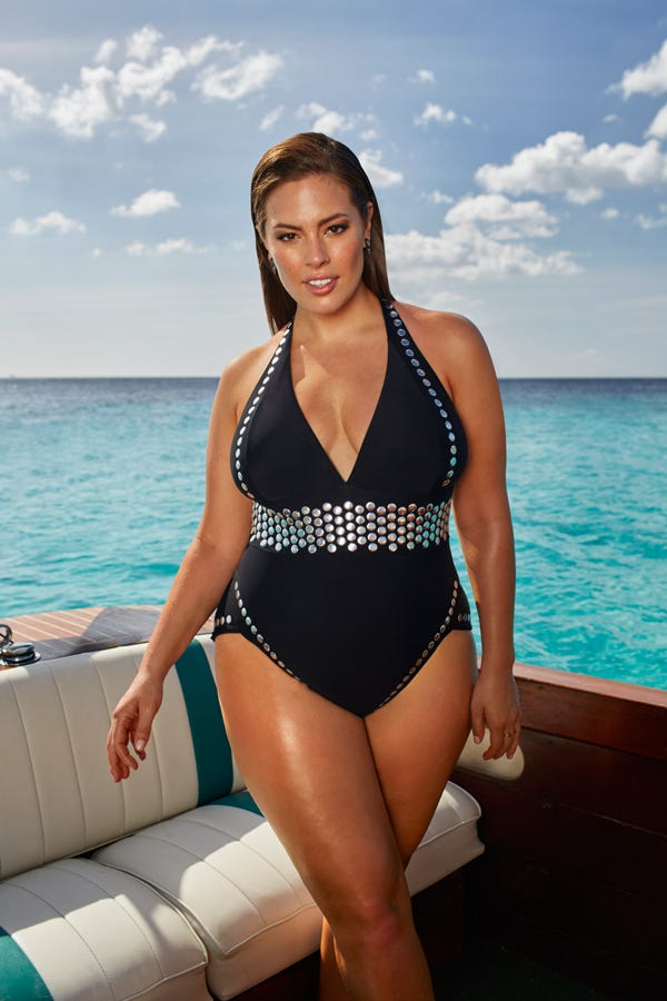 bad0a3cd1e Ashley Graham Swimsuitsforall Plus Size Swim Collection
