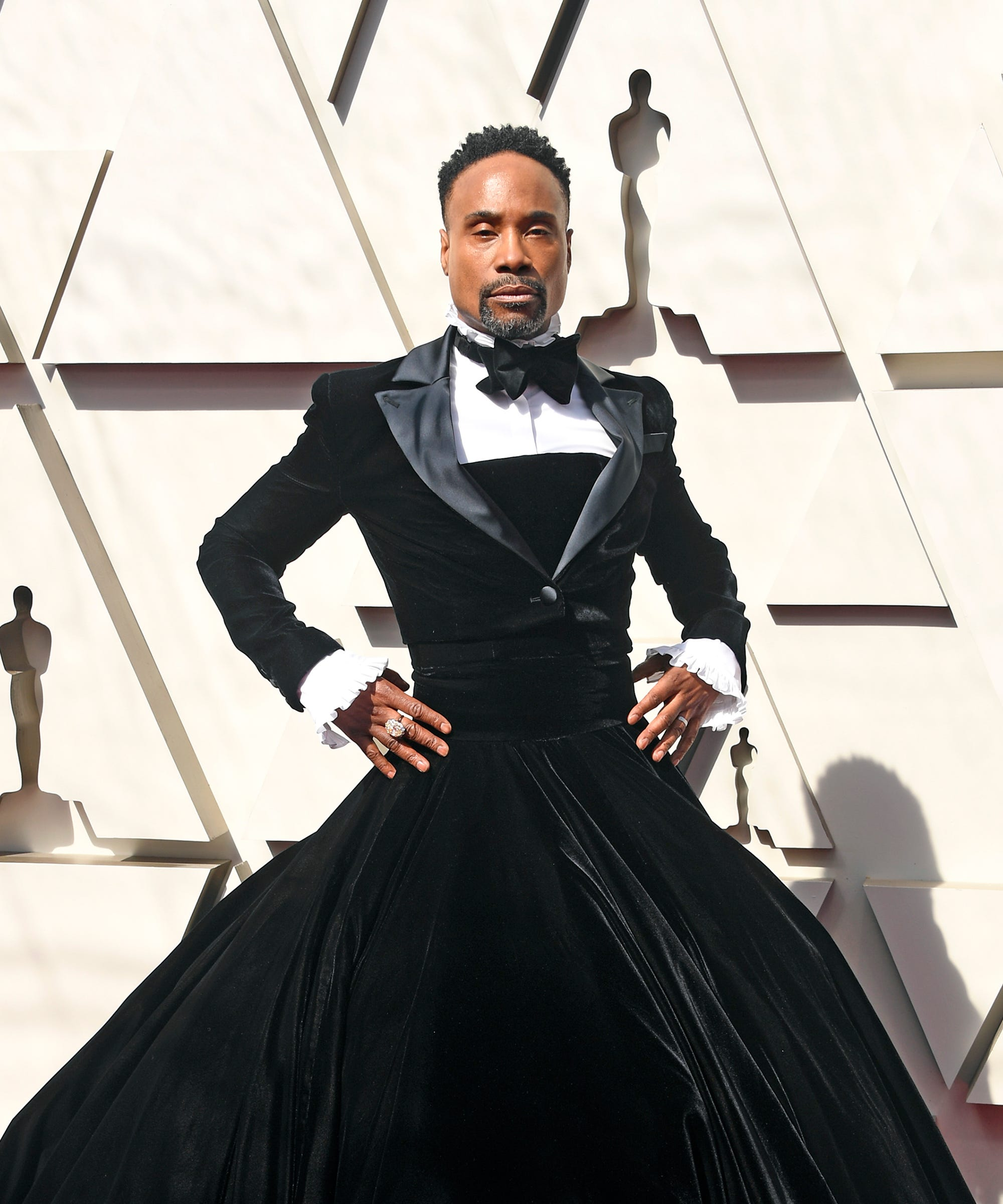 eb8f3b59196 Billy Porter Tuxedo Gown Is An Oscars 2019 Showstopper