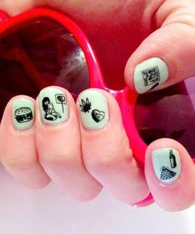 Sara Lyon Rad Nail Decals and Stickers