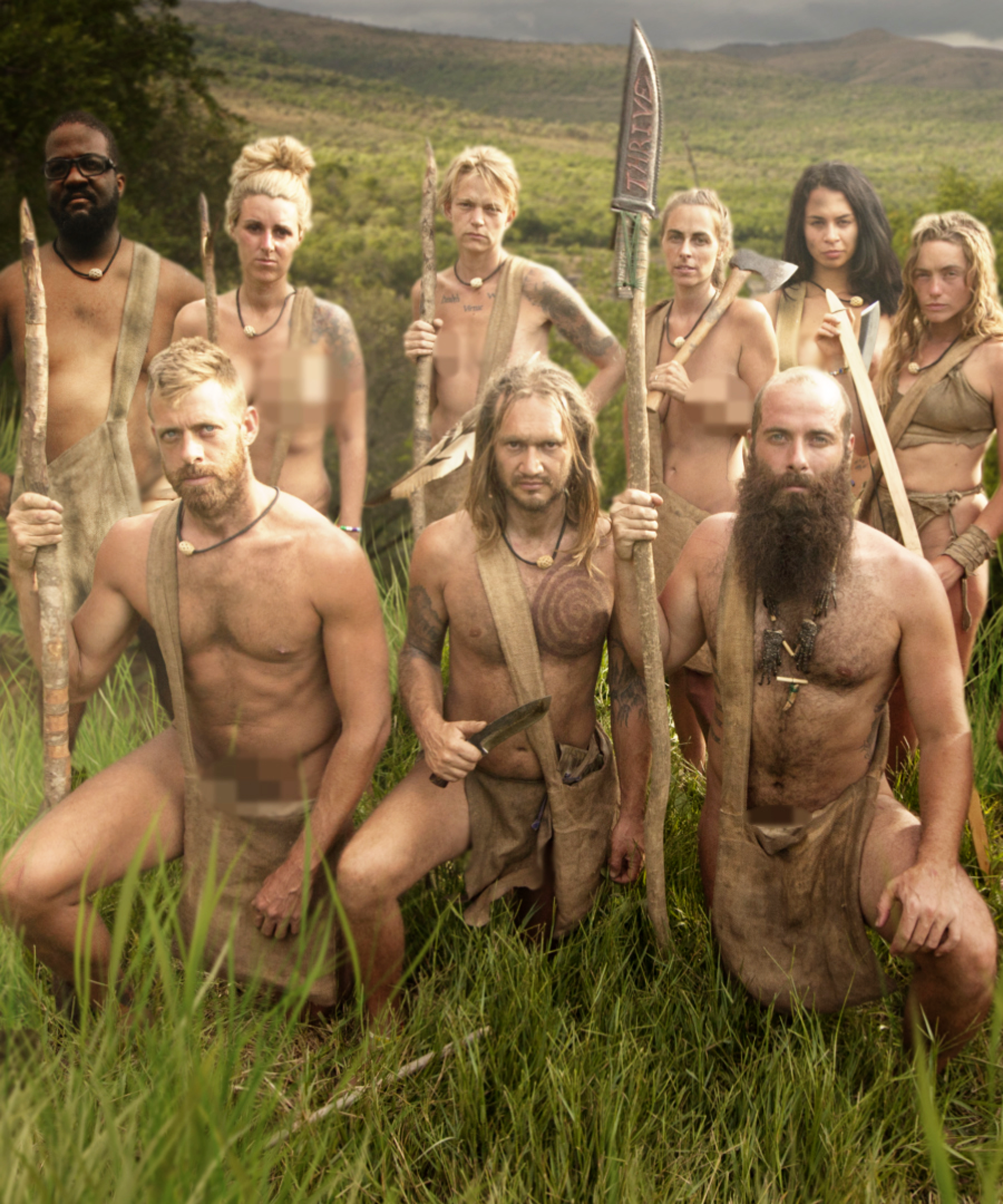 Naked and afraid people naked