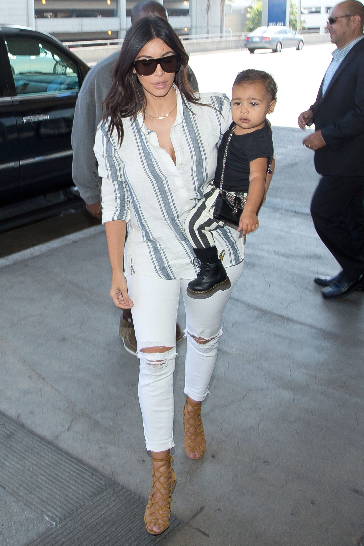 Kim Kardashian North West Matching Outfits