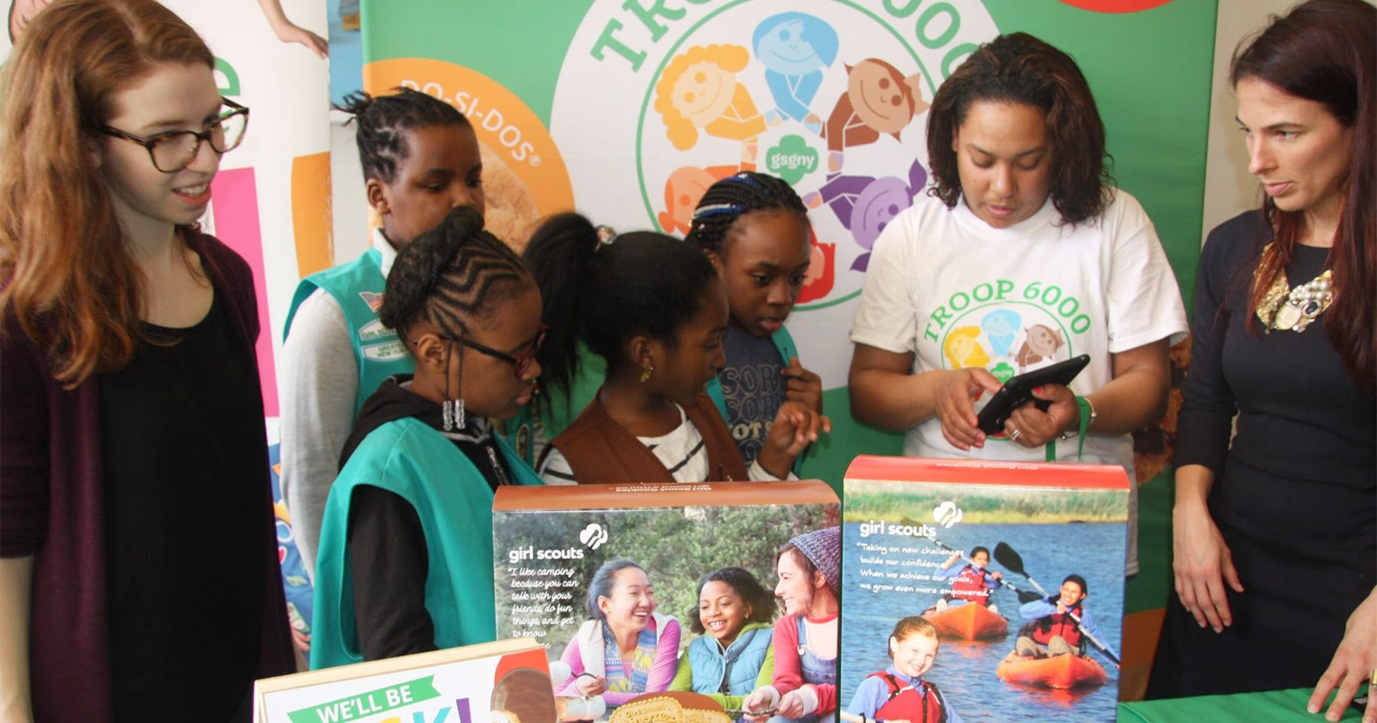 Homeless Shelter Based Girl Scouts Troop Sells More Than 32,000 Boxes Of Cookies At First Sale