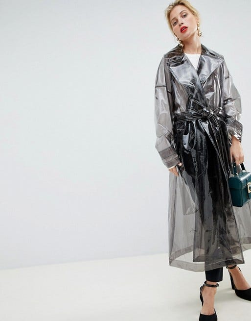 f073085223e2 Clear Transparent Raincoats Trend For Women - Fall 2018