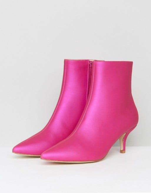 Kitten Heel Boots Trend Fall 2017 - Zara Topshop Tibi
