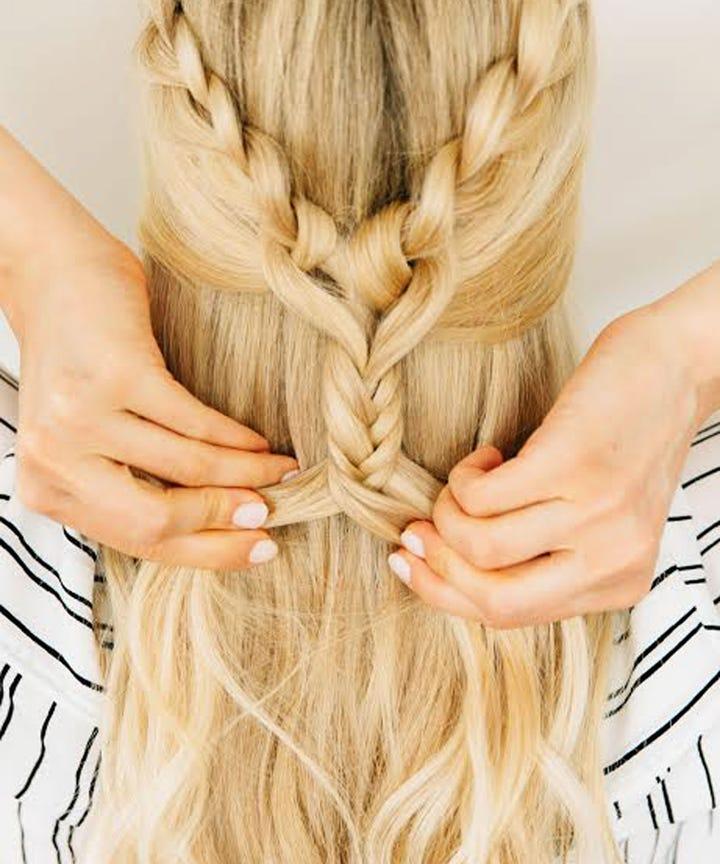 Amber Fillerup Clark Hair Extensions Barefoot Blonde