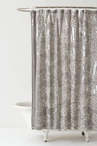 Anthropologie Silver Burnished Shower Curtain 128 Available At