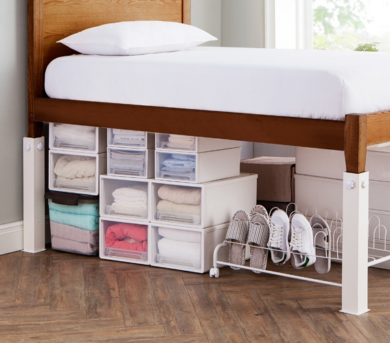 These Sturdy Steel Legs Will Raise Your Bed Four Times Higher Than The  Average Plastic Risers.