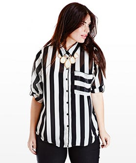 Plus Size Striped Clothing Curvy Women Stripes