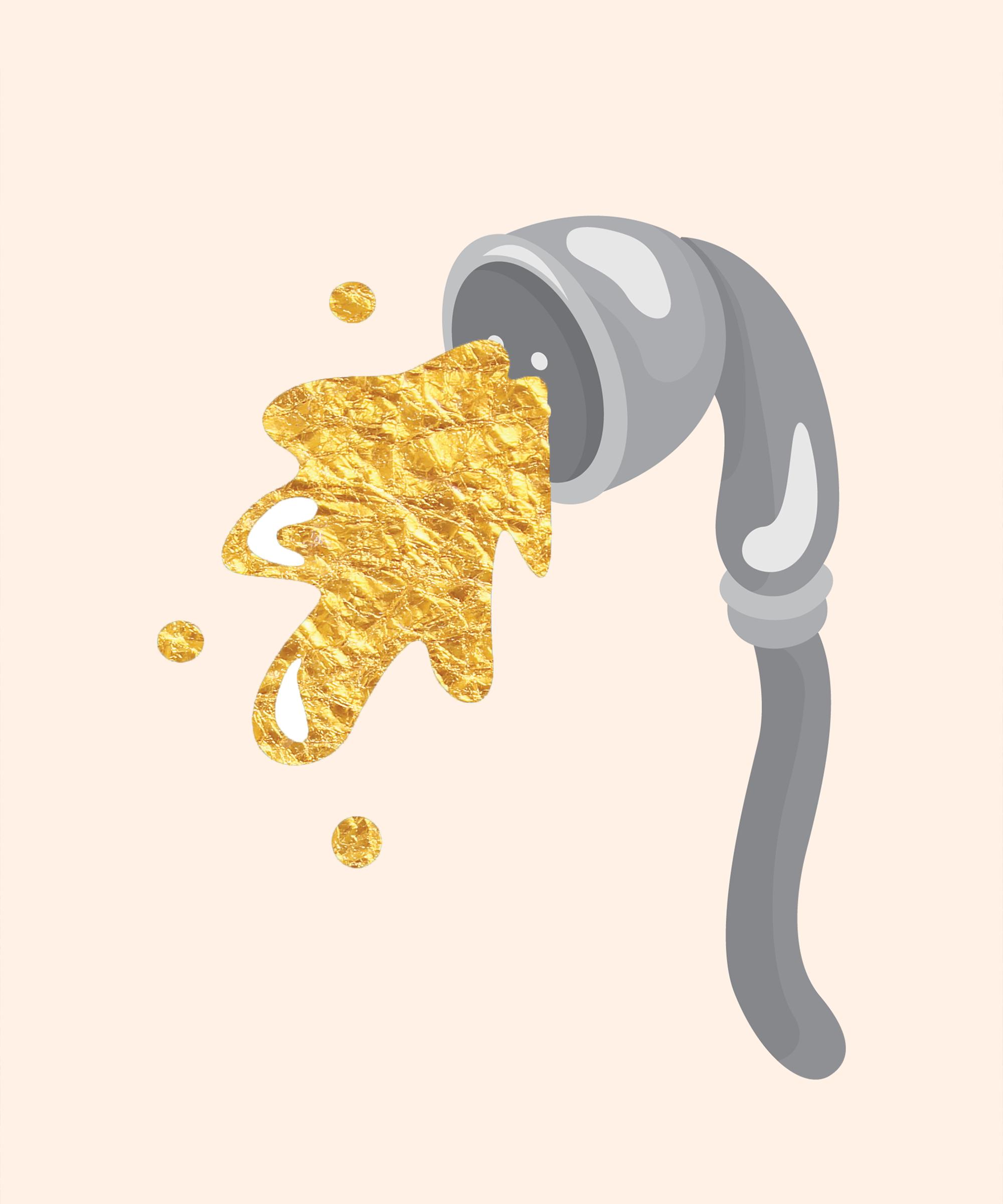 Watersports urine golden shower