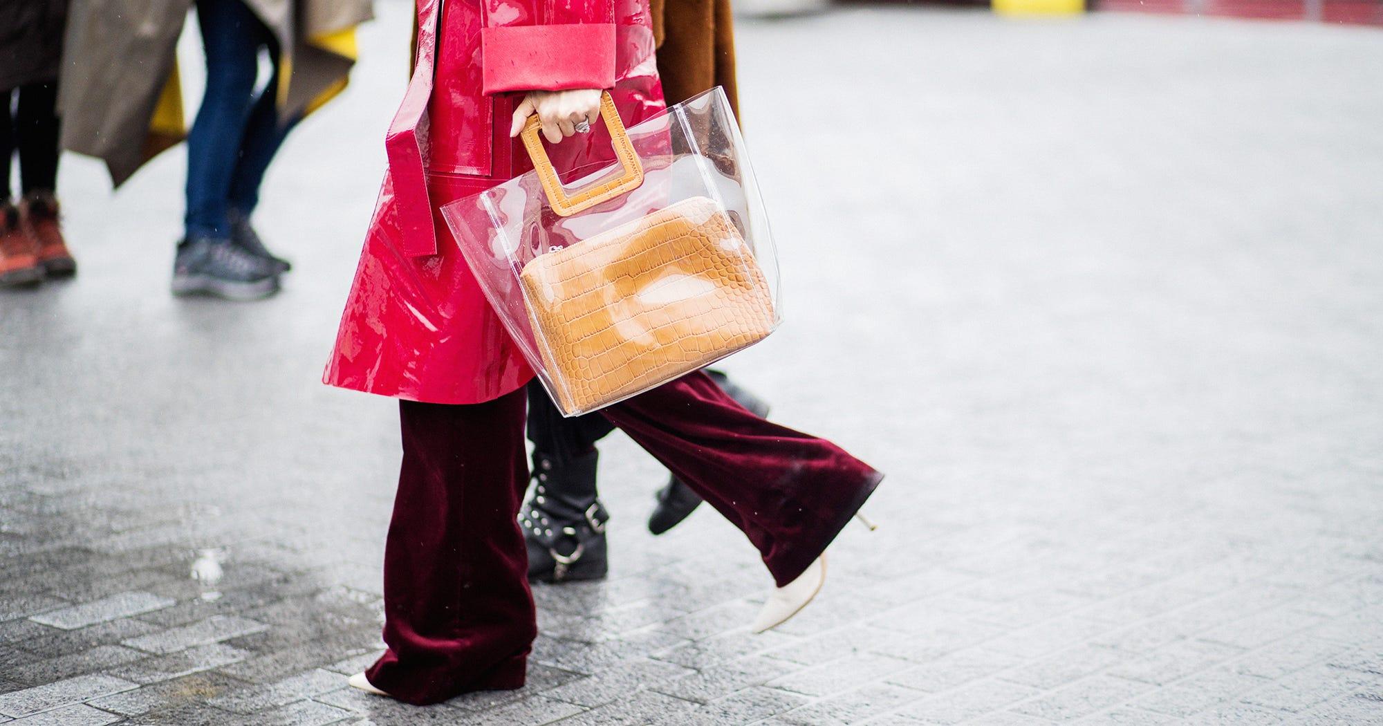 a8a2db3a6c54db Best Clear Purse And Handbag Trend During Fashion Week