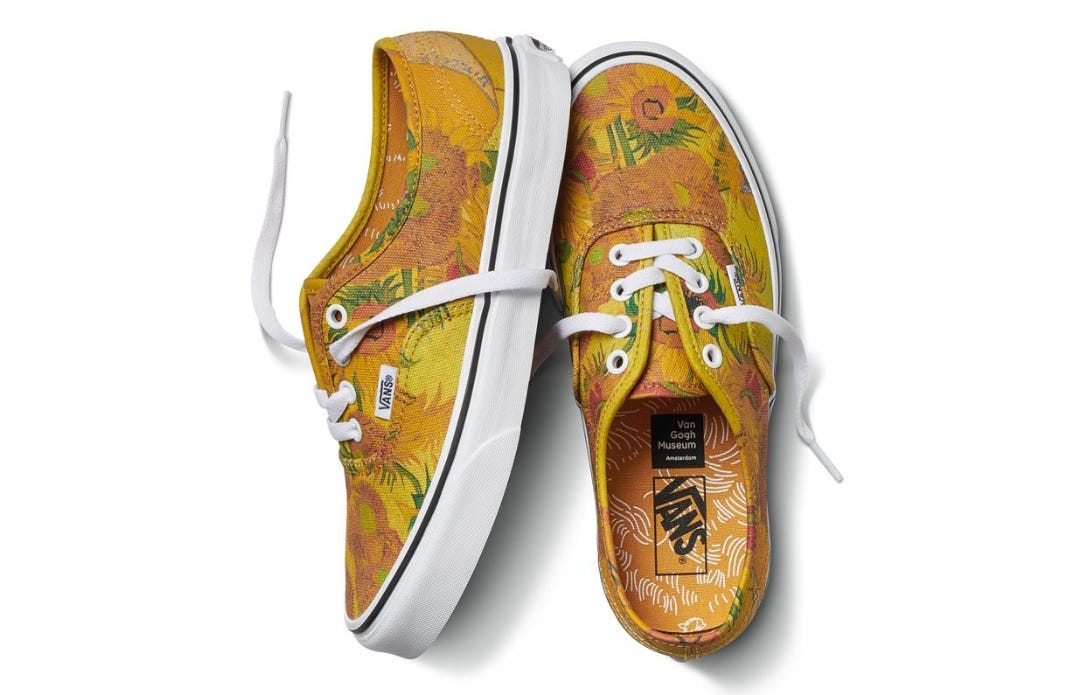 Collab X Pure Van Vans Clothing Sneakeramp; Gogh Is Art If7ygYb6vm