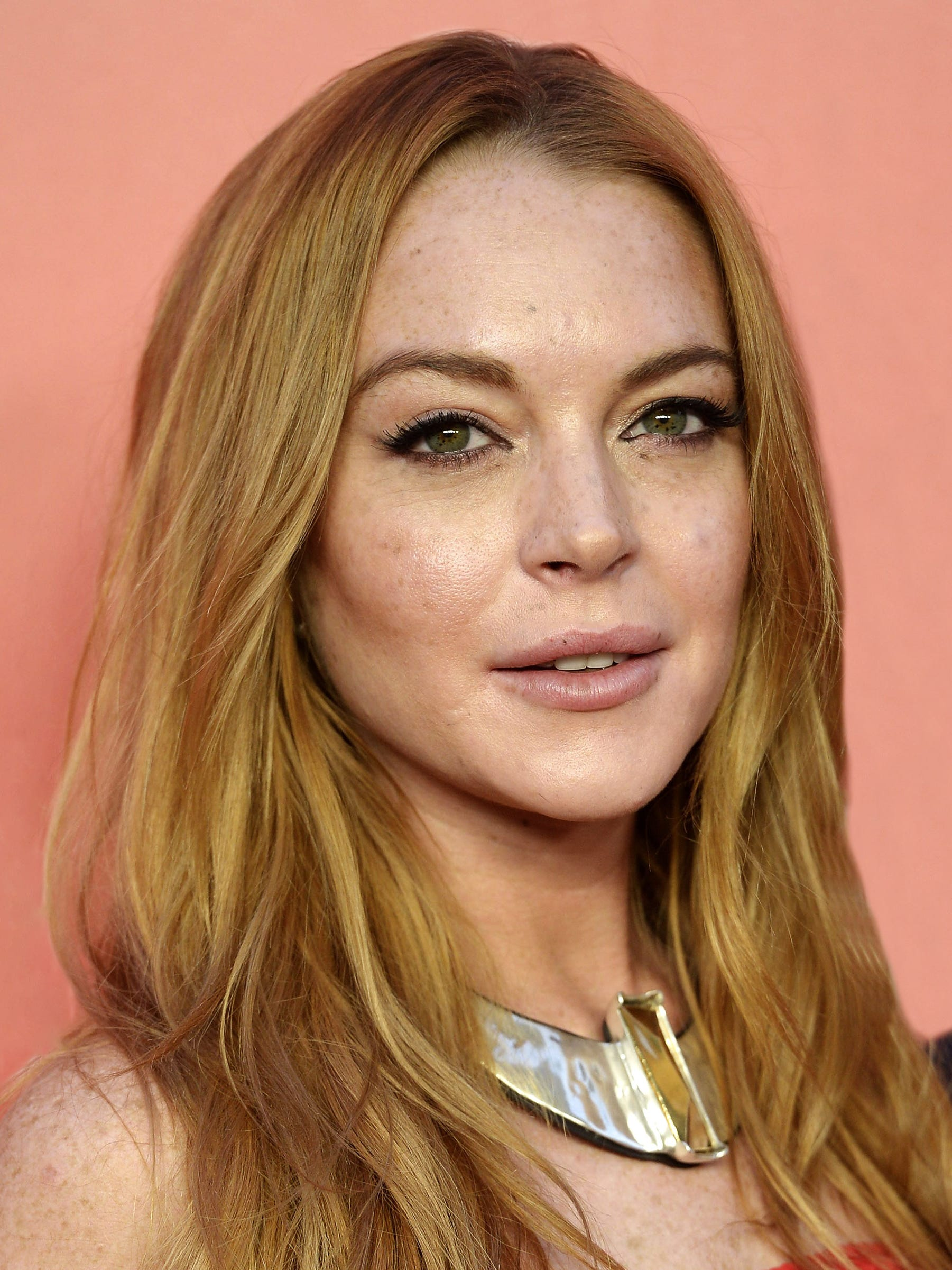 Lindsay Lohan New Red Hair Color Instagram Photos