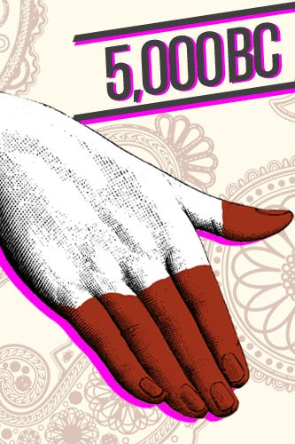History of nail art design 5000 bc although the exact origin of nail treatments is murky many sources say it began in india as women dyed their fingertips with henna a practice prinsesfo Images