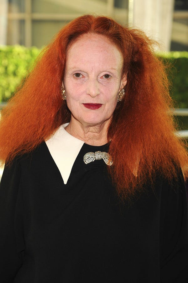 """""""I call this 'The Queen of Cayenne,'"""" says Darling of the fashion  industry's most instantly recognizable head of red hair."""