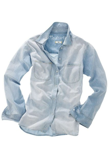 7d6ee40dba2 ... Chambray Ex-Boyfriend shirt. Shop This. INFO · Madewell