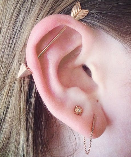 Multiple Ear Piercing Ideas