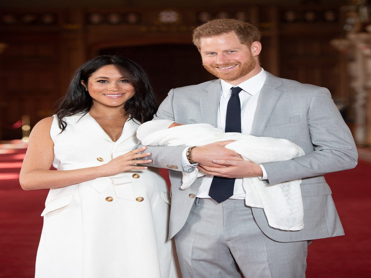 Meghan Markle Wore A White Grace Wales Bonner Dress To Debut The Royal Baby