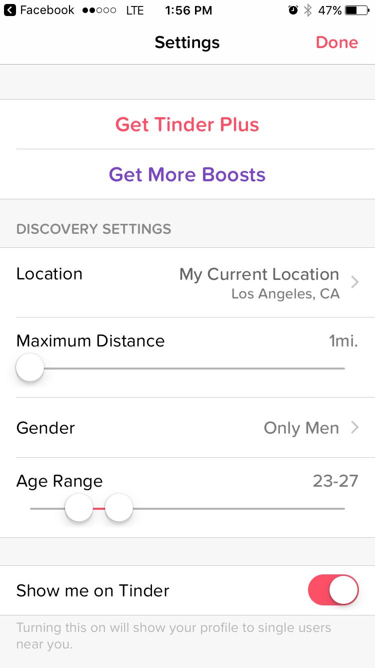 tinder dating site age range