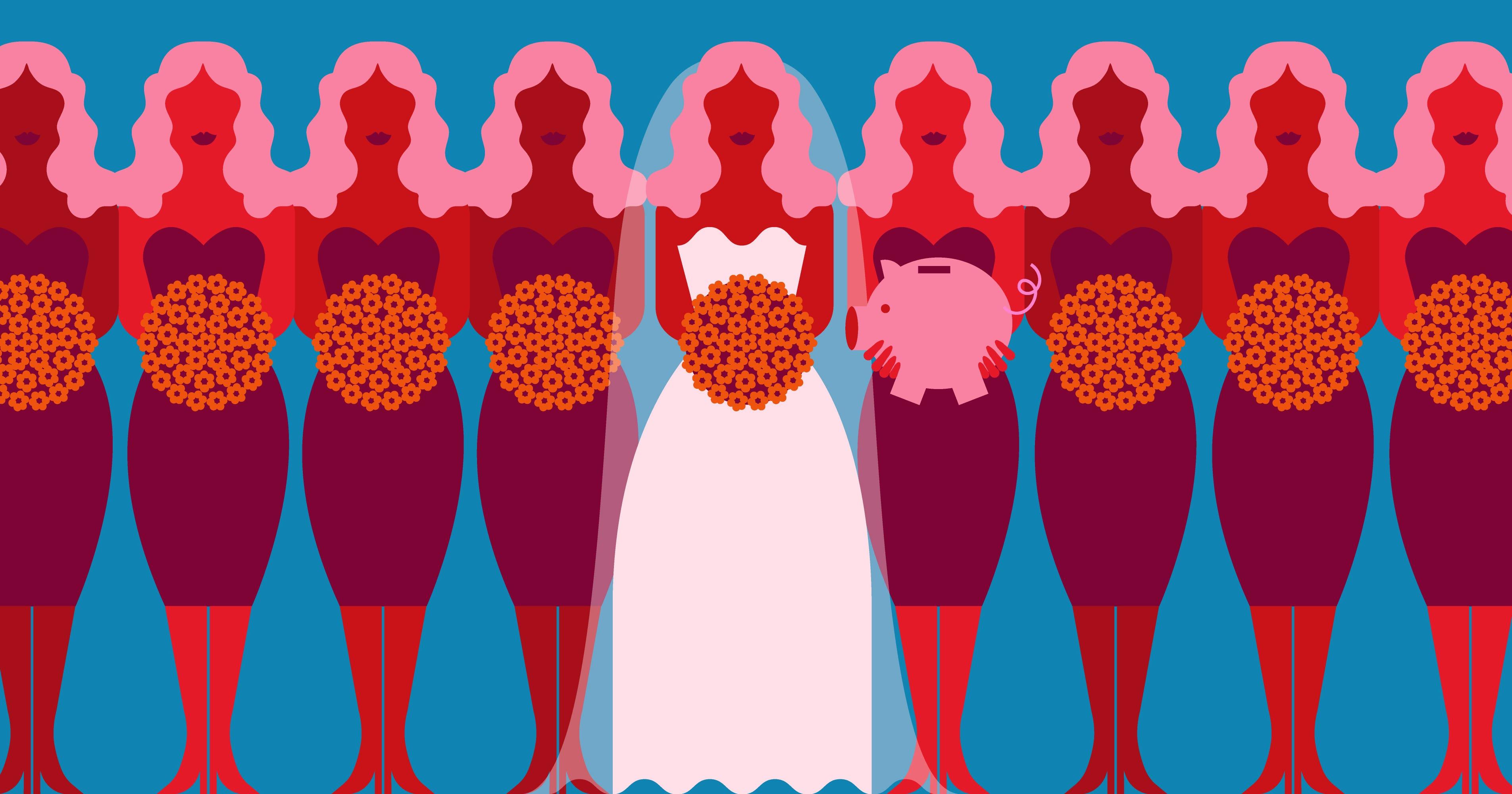 How Much Money Millennial Women Save To Attend Weddings