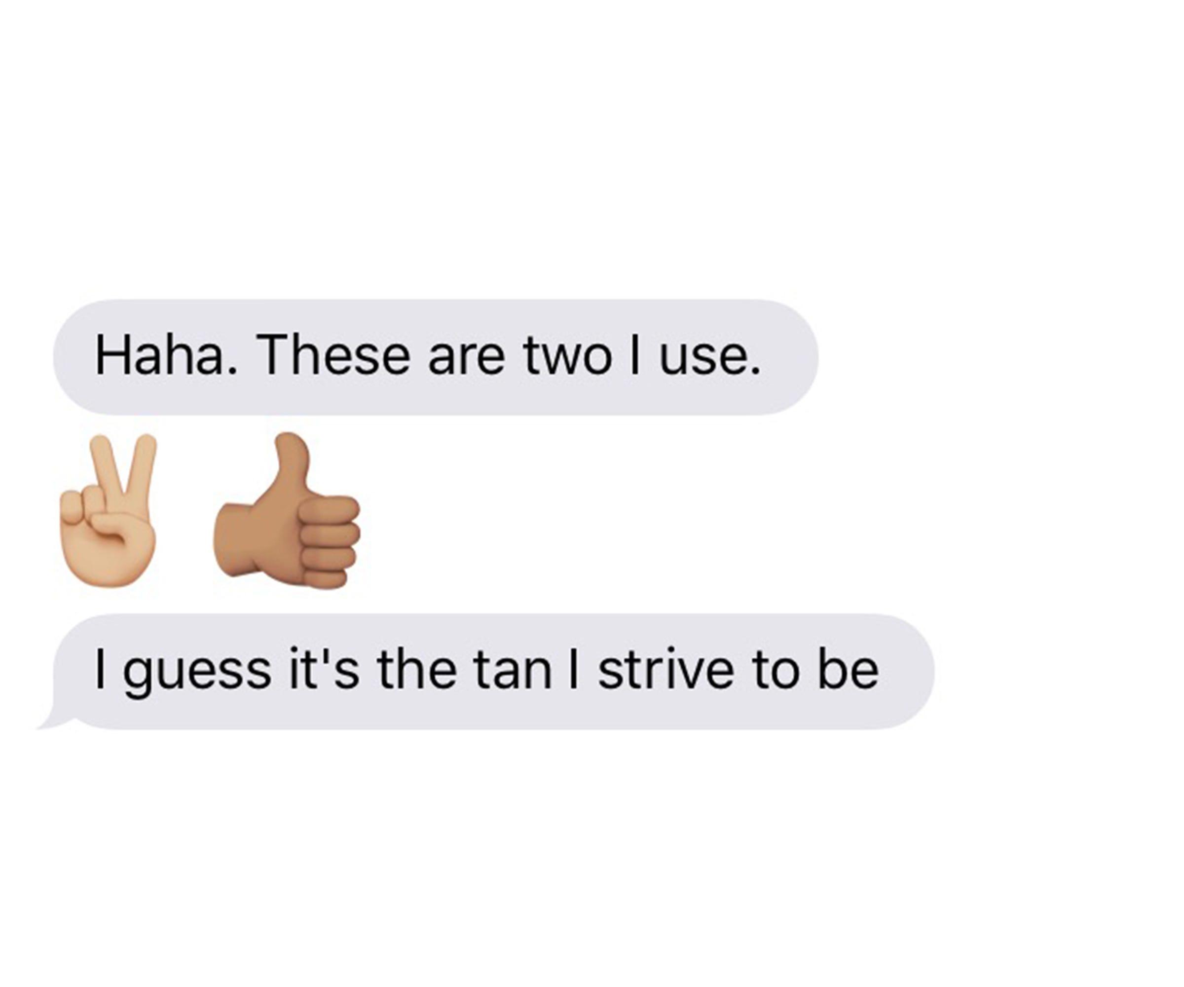 White People Using Dark Skin Tone Black Emojis Problem