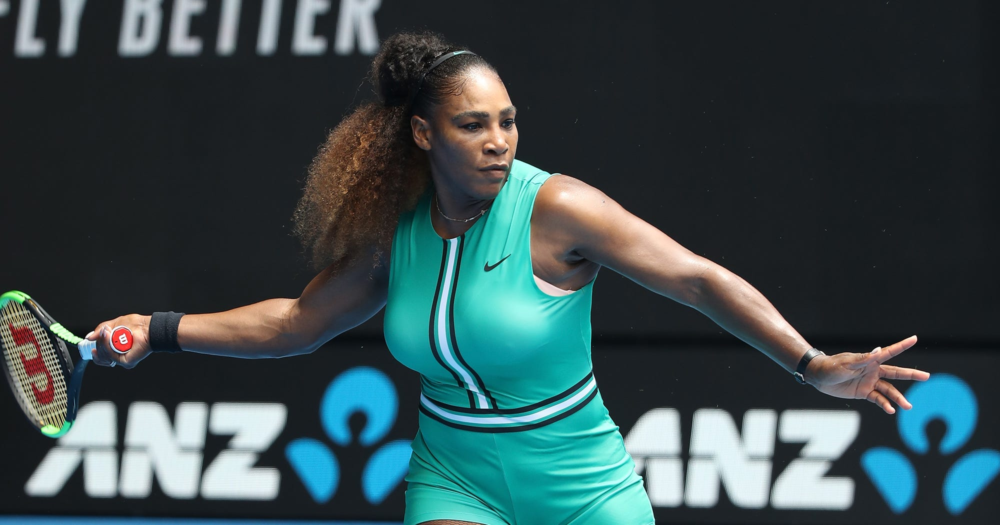 ba3469b755b Serena Williams Green Outfit   Fishnets Ruled The Court