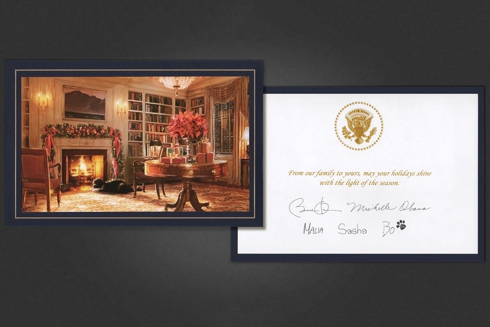 President obamas holiday cards last christmas jeuxipadfo Choice Image