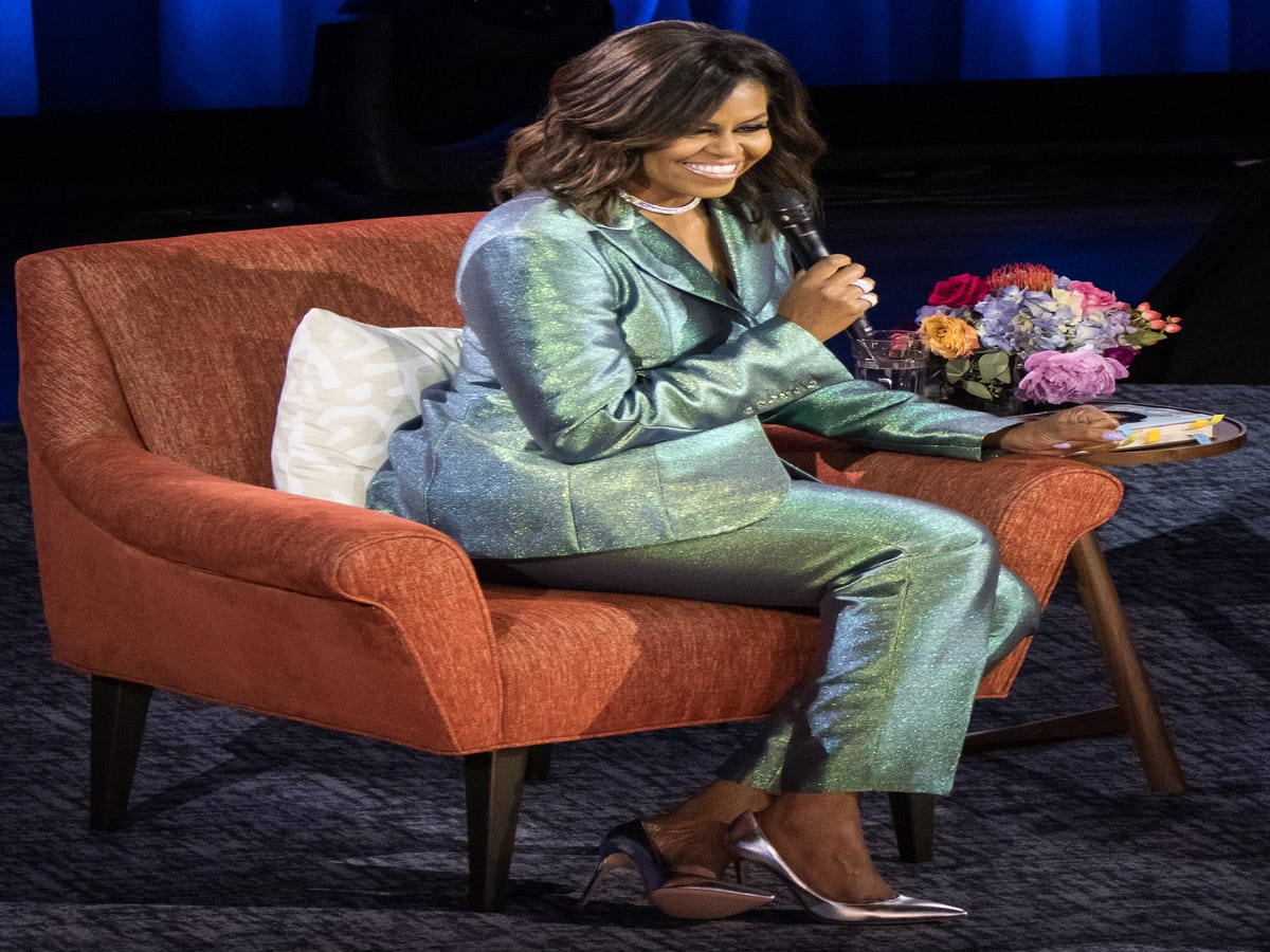 Michelle Obama Just Wore Christopher John Rogers, An Emerging Black Designer