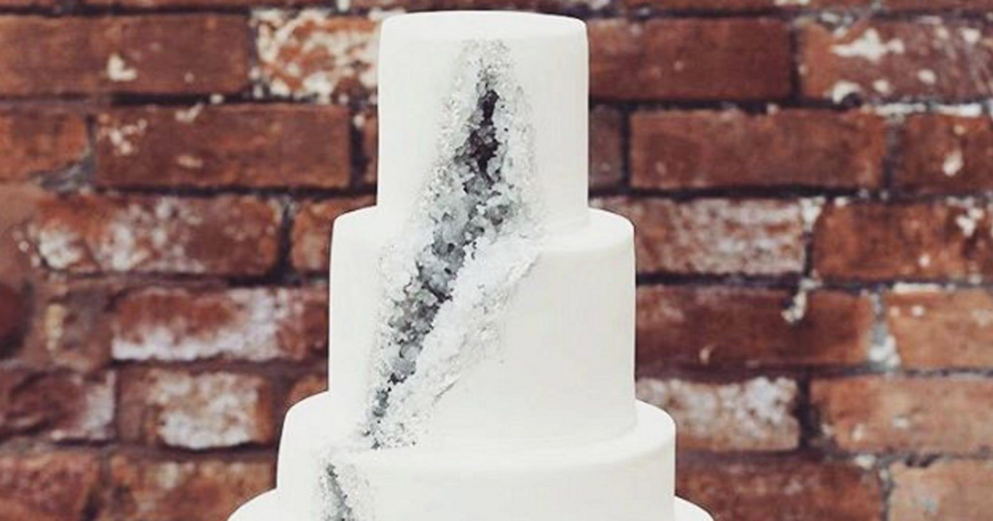 Geode Wedding Cake.Geode Cake Beautiful Wedding Cake Design