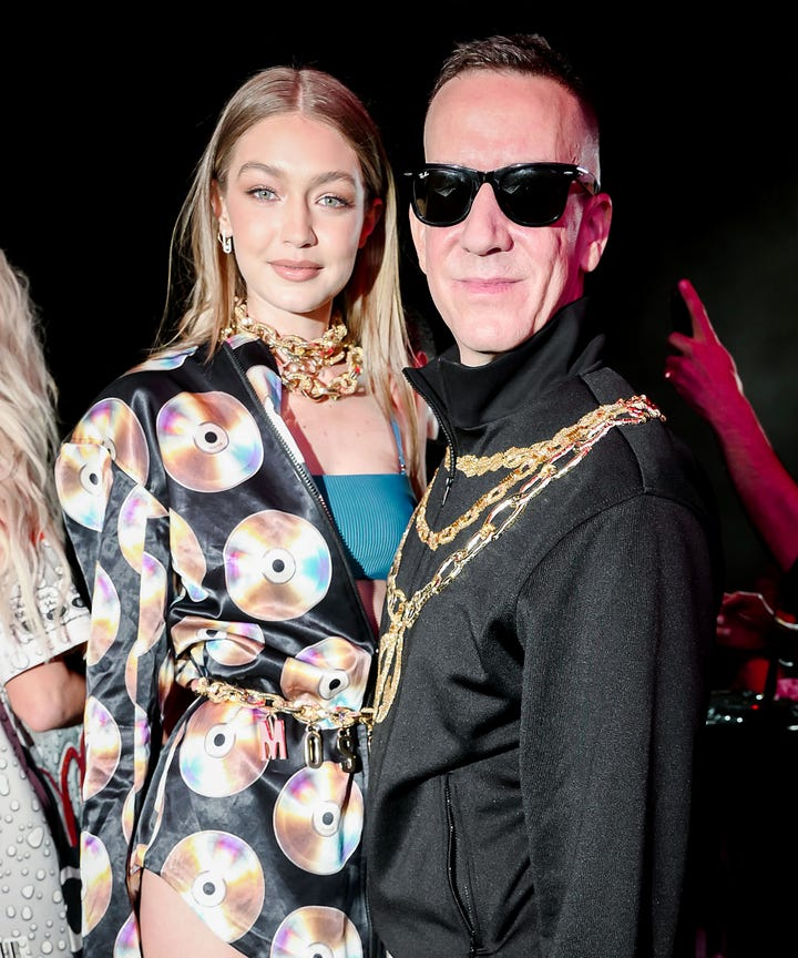 Jeremy Scott and Gigi Hadid