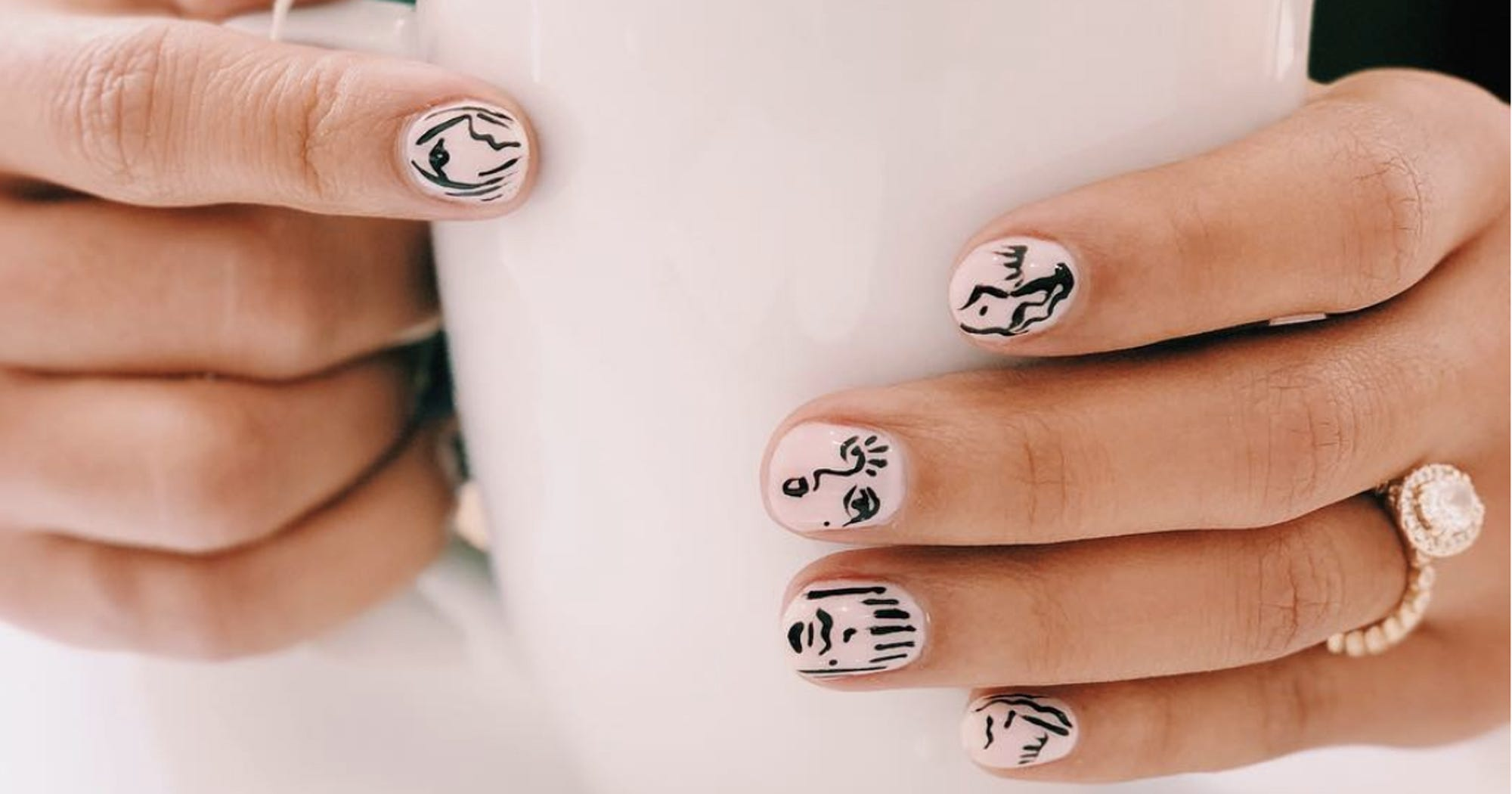 Instagram\'s Newest Nail Trend Is Literally A Work Of Art ...