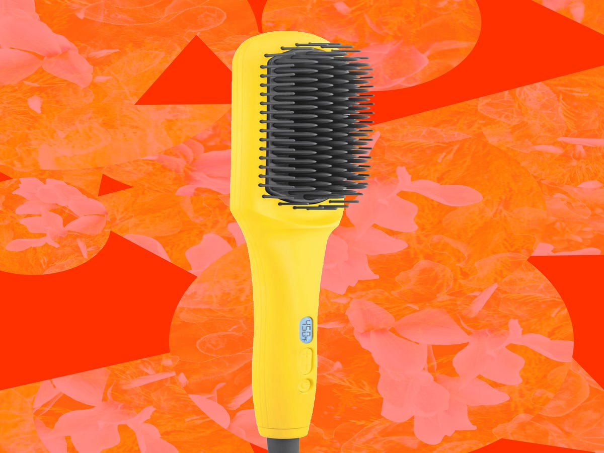 The One Straightening Brush That Actually Works On My Curls