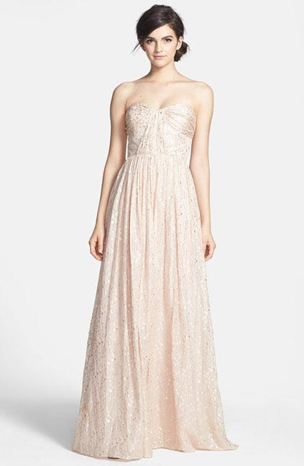 d606f3236fd ERIN Erin Fetherston. Coralie Foiled Silk Chiffon Gown
