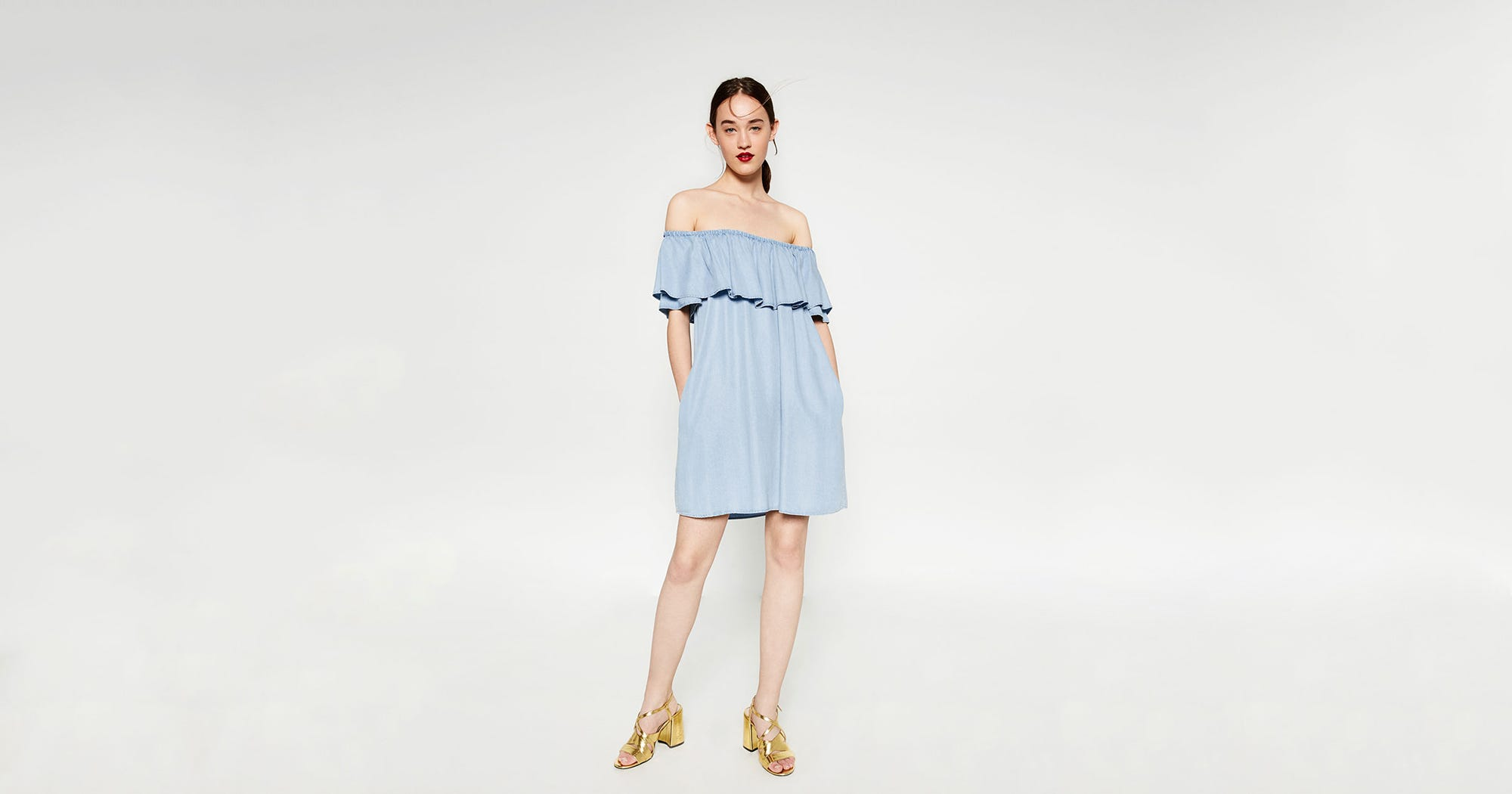 f785ecce52c Zara Popular Dress Funny Blog Off The Shoulder Trend