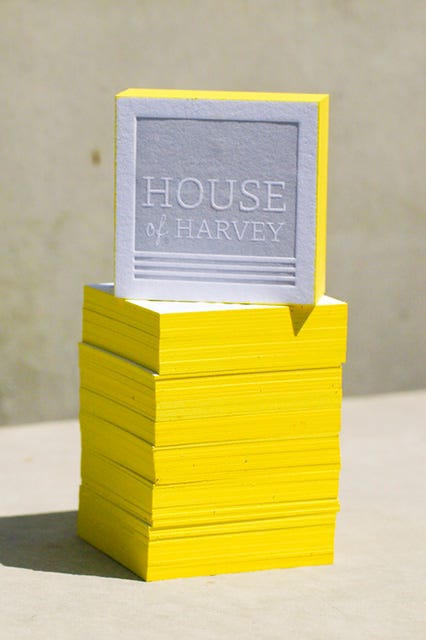 Business cards los angeles design letterpress photo courtesy of house of harvey who says business cards reheart Choice Image