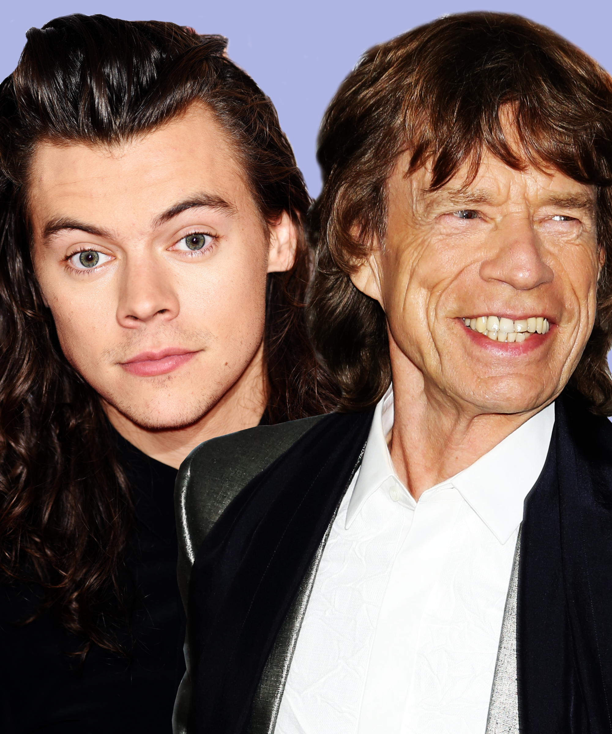 Harry Styles Short Hairstyle Mick Jagger Rolling Stone