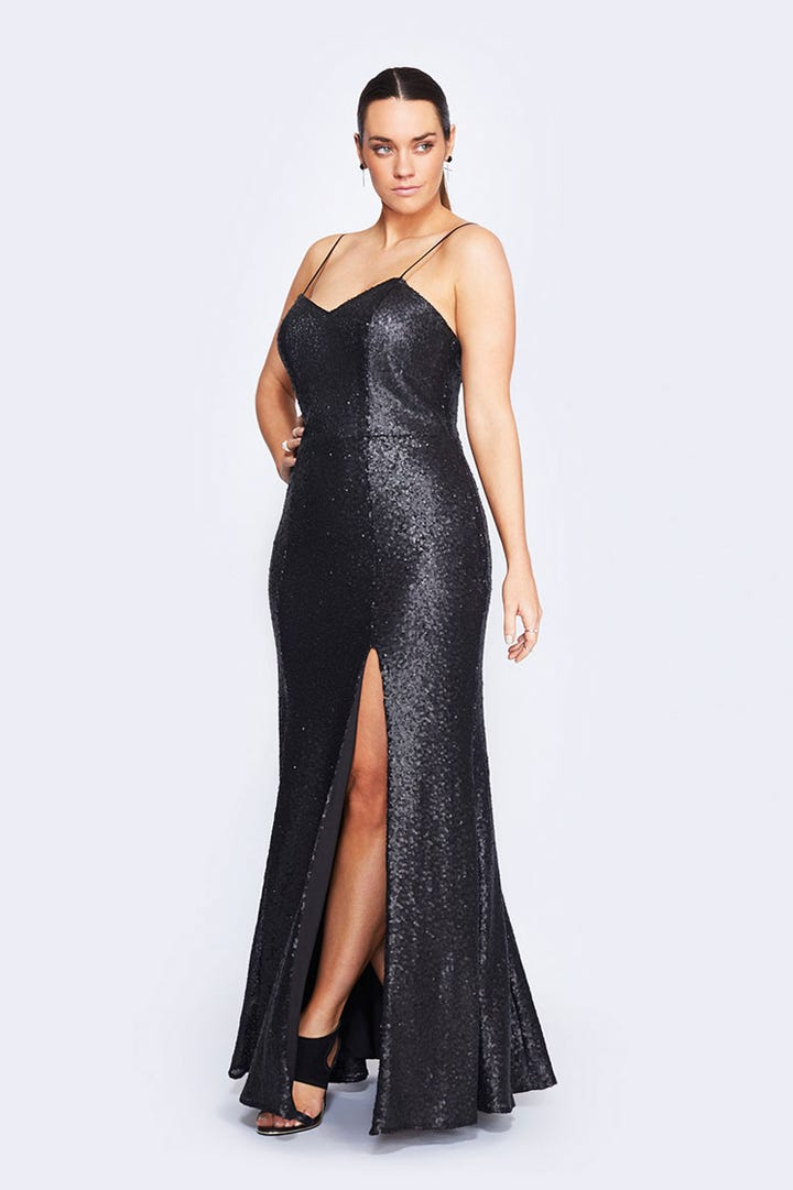 Plus Size Formal Dresses Curvy Women Evening Dresses