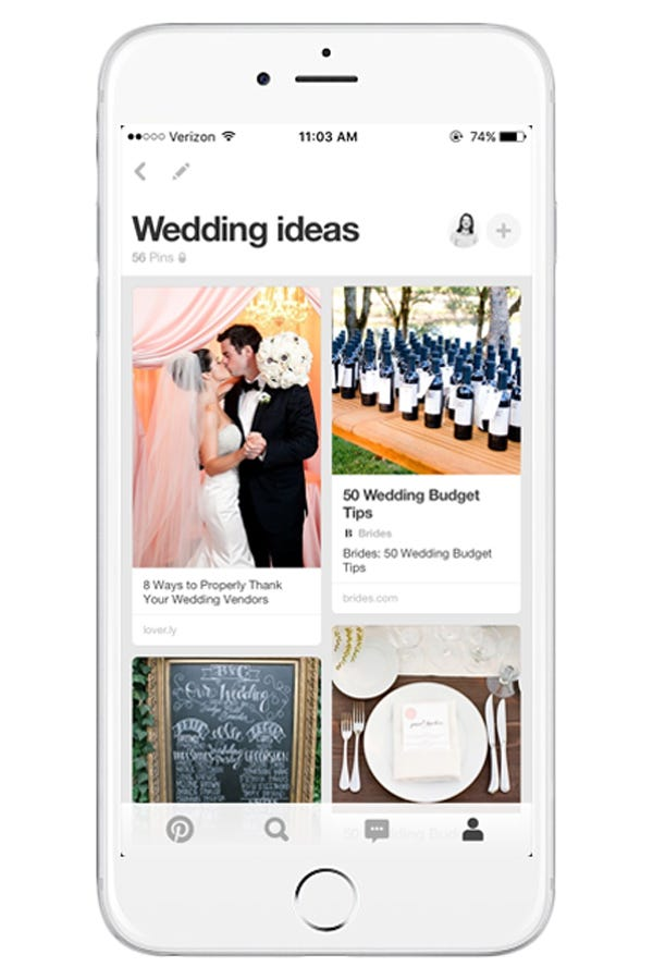 Wedding apps best planner apps for brides grooms it wouldnt be a list of the best wedding planning apps without pinterest although there are a lot more digital wedding planning tools now than when junglespirit Choice Image
