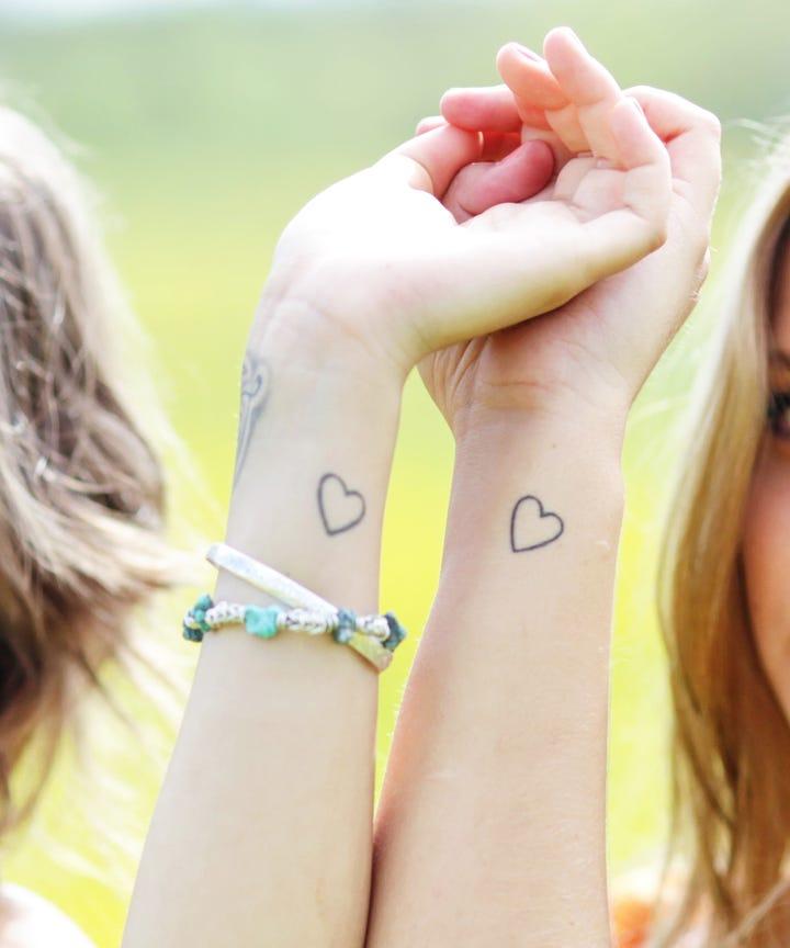 Best Meaningful Sister Tattoo Ideas, Minimal Tattoos