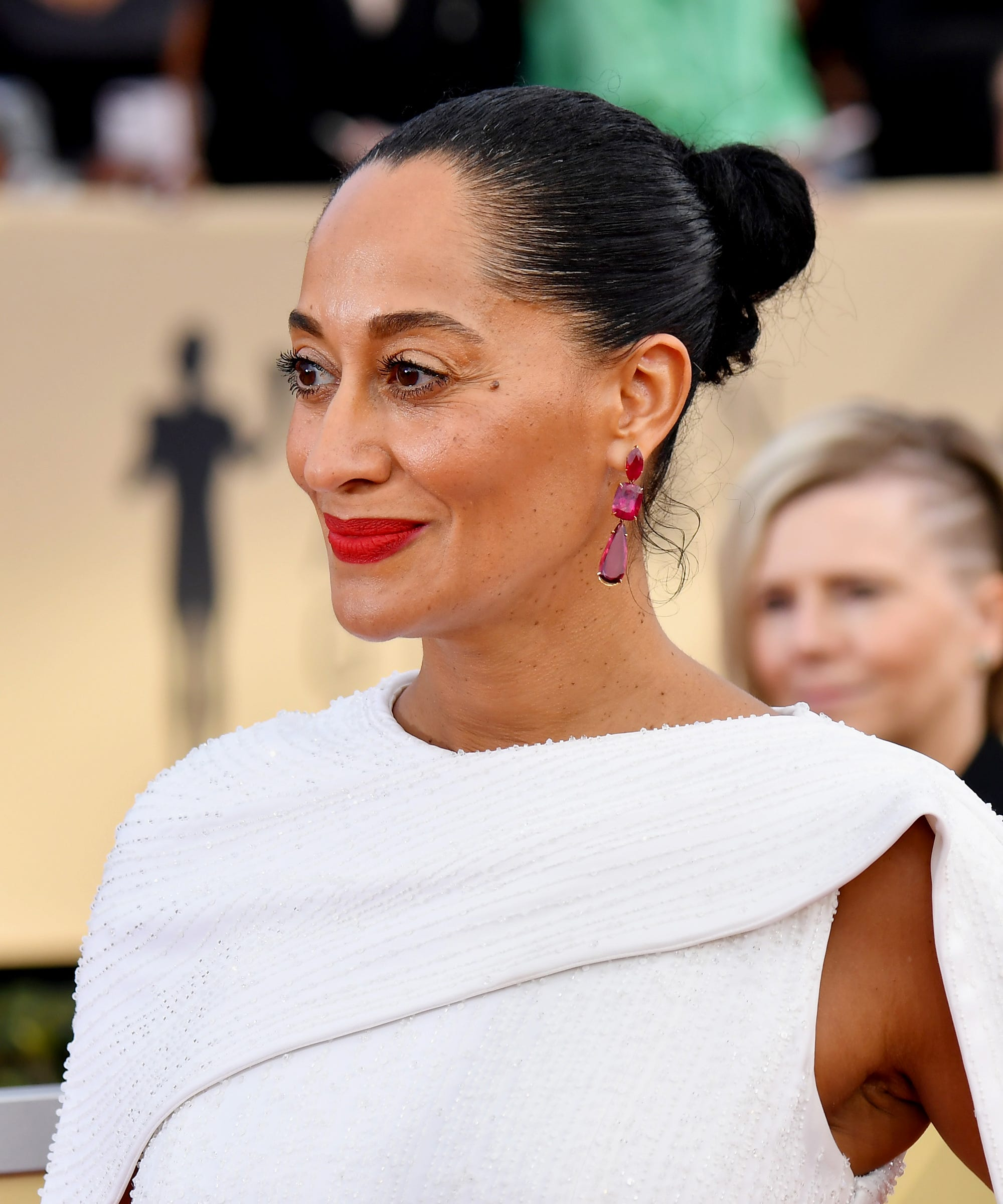 Celebrities Rocked Low Bun Hair Trend At Sag Awards