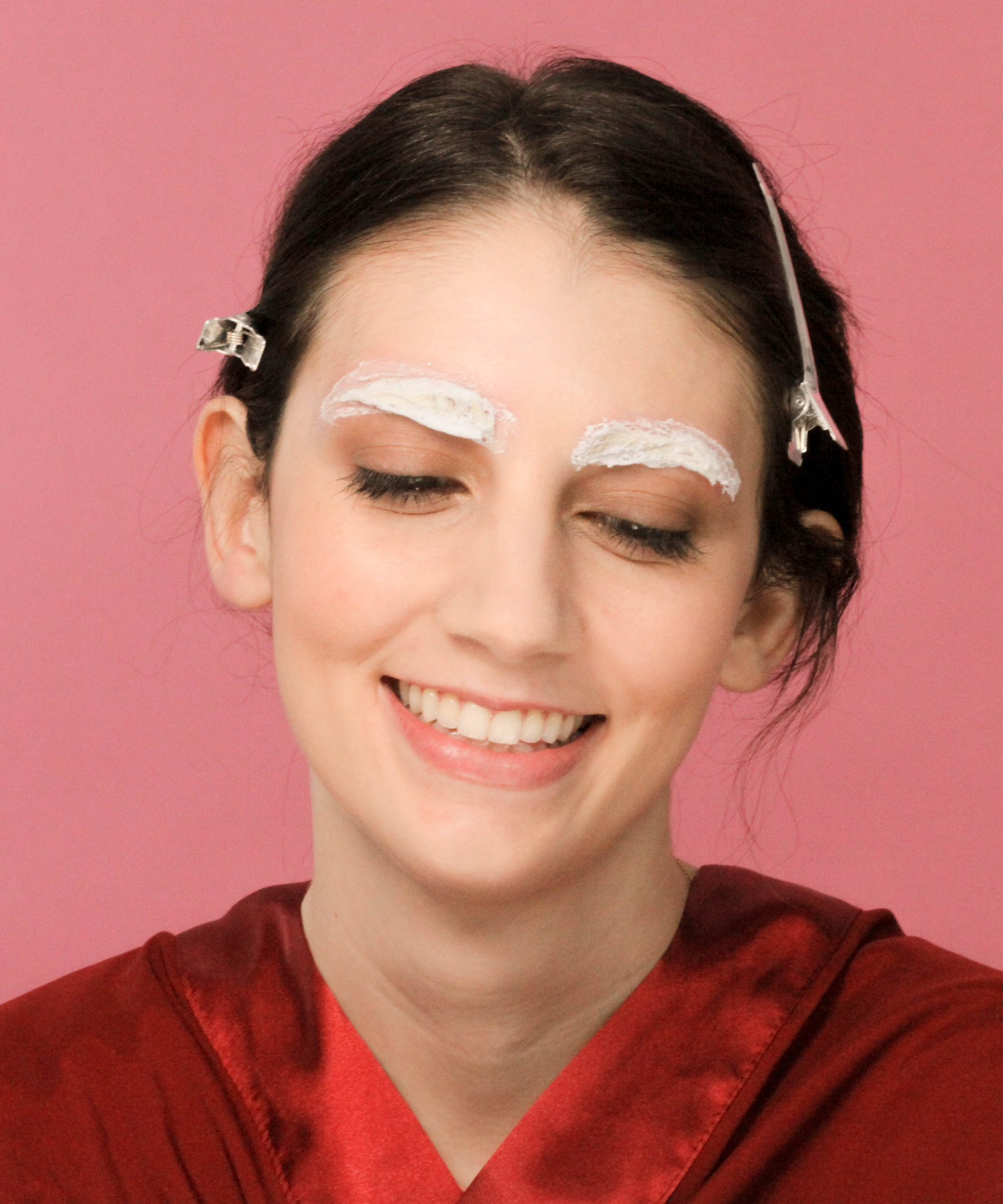 Eyebrow Bleach Before After Brow Dyeing Photos
