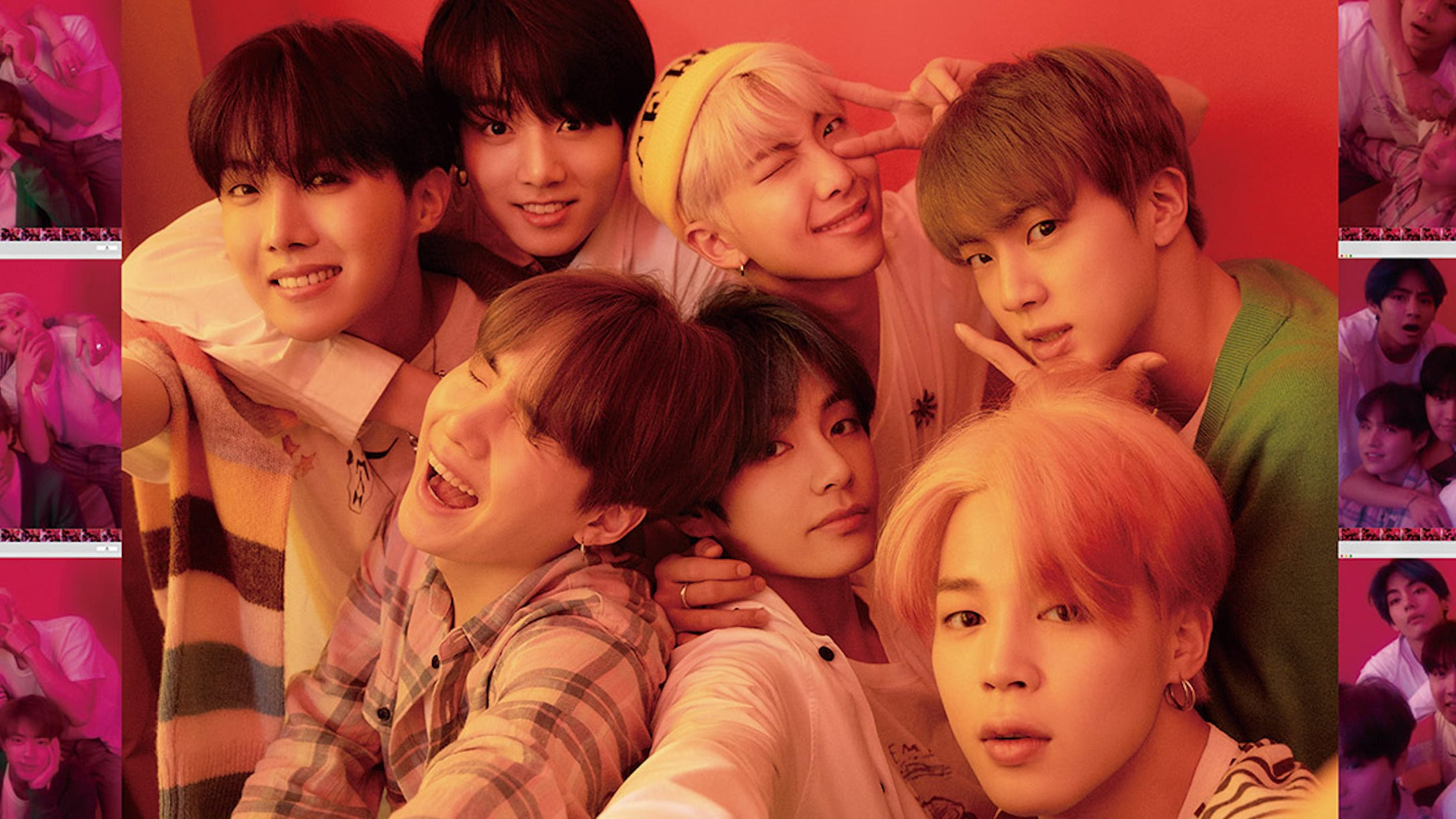 BTS & Halsey Are Visions In Pink For Joyful