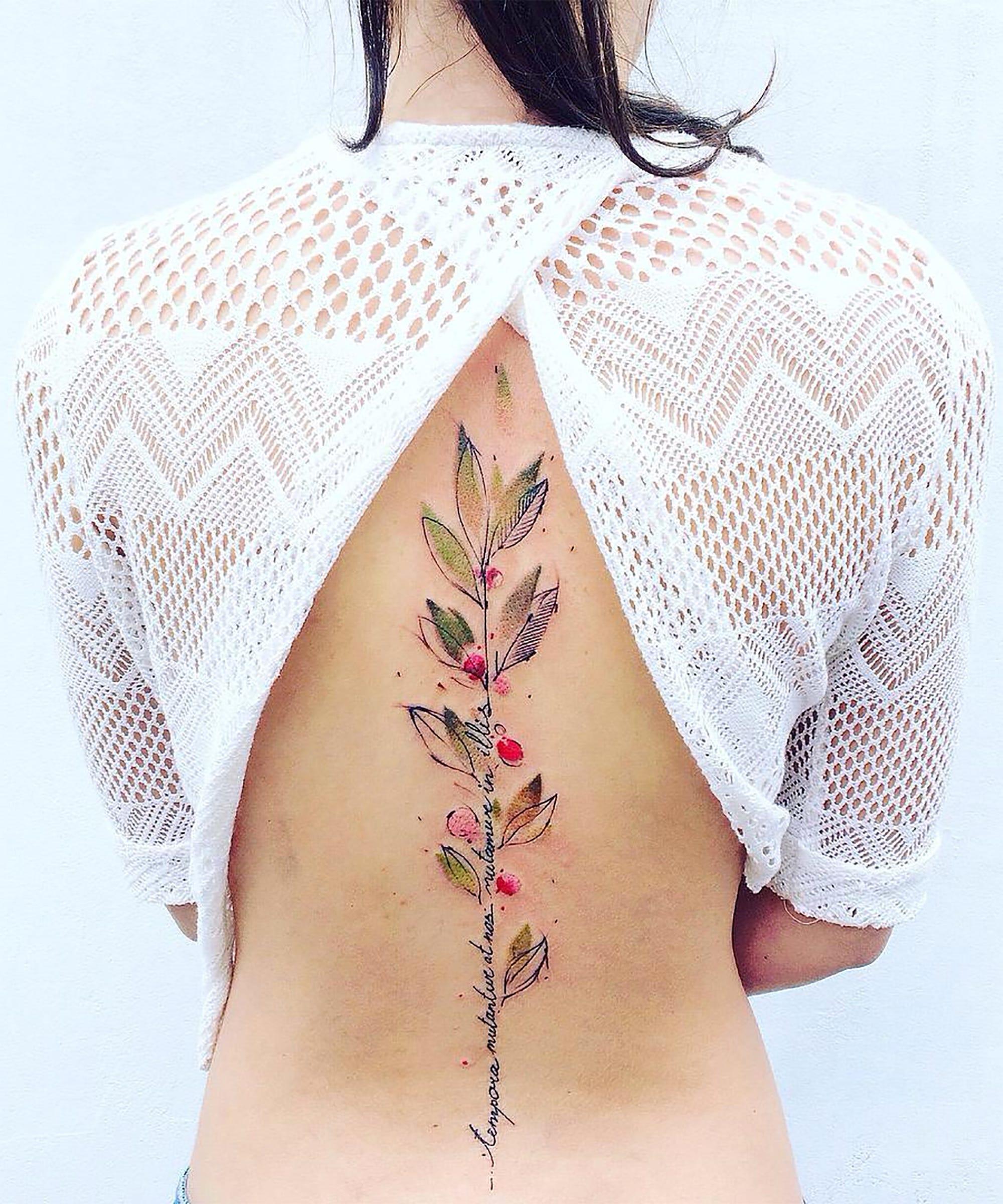 eb85967e06e6a Watercolor Tattoos That Are Perfect For Spring Designs